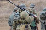 Soldiers. WW2 reenacting.Kiev,Ukraine poster