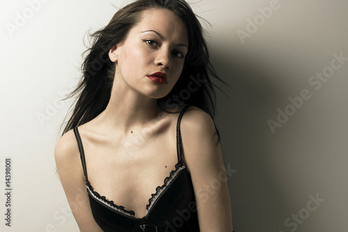 Magnificent young woman in corset