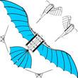 Flying Machine Leonardo da Vinci Antique Hang Glider Vector 02