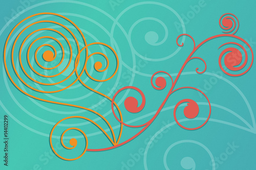 Flourish design background