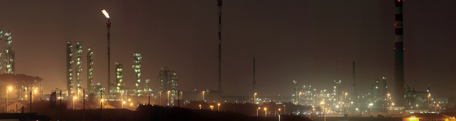 refinery by night