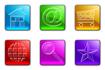 Icone Internet-Web Icons-Icones - Set 6