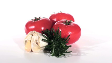 Italian pasta sauce ingredients seamless loop - HD