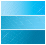 abstract grid banners (headers) poster