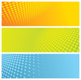 abstract halftone headers (banners) poster