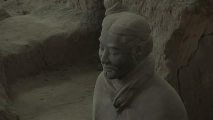 Terra Cotta Warriors in Profile, Coming into Focus