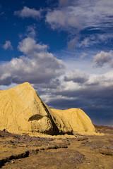 Dramatic Sky over Death Valley Badlands