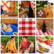 Picnic collage