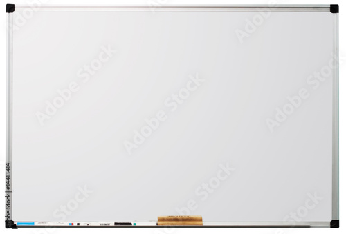 Whiteboard isolated on white background - 14413414