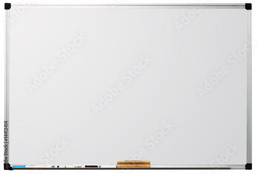 Leinwanddruck Bild Whiteboard isolated on white background