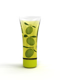 Three olives in cosmetic tubes