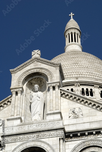 Close up of Basilica of Sacre Coeur