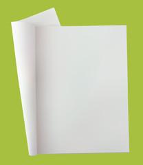 Open blank newspaper