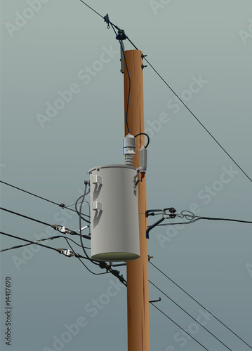 Power Pole in Storm