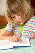 Mädchen liest