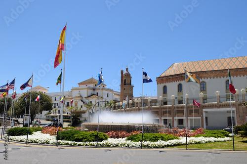 Leinwanddruck Bild Plaza de Sevilla CADIZ
