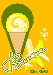 Ice-cream banana
