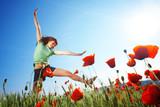 Fototapety Jumping girl