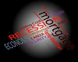 Recession concerns poster