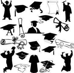 Graduation collage (vector)
