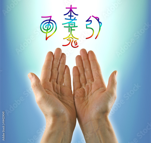 Healing hands and Reiki Symbols