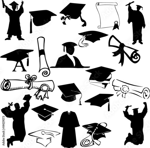 Graduation collage (vector)