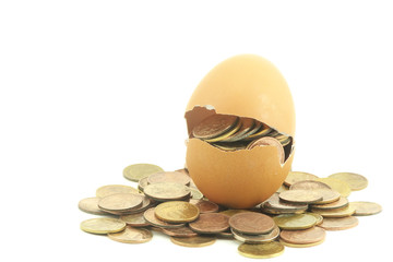 Money in a egg