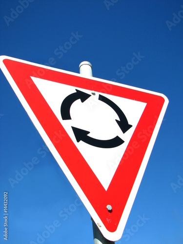 Roundabout Road Sign. Roundabout road sign © Gold Coast Girl #14432092. Roundabout road sign