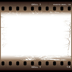 brown grunge film cell