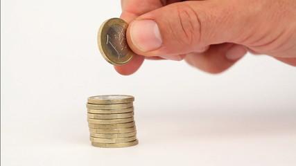geld sparen euro zählen