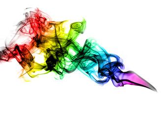 Beautiful coloured smoke