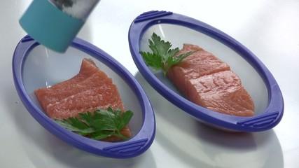saler les papillotes de saumon