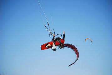 Kiter vola sopra Tarifa, Spagna