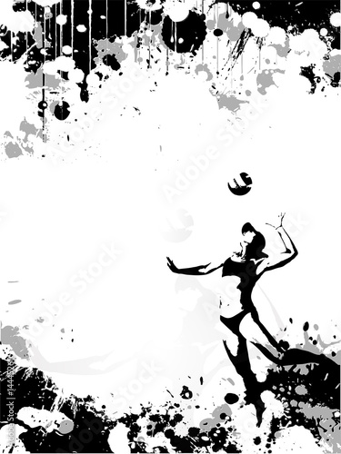 volley poster background