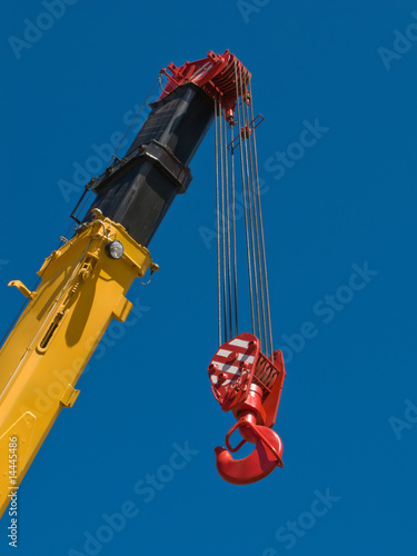 Tower crane and steel hook building metal construction