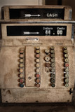Beautiful old hand operated antique analogue Cash Register poster