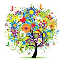Piękne drzewa kwiatu