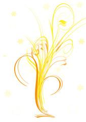 gelber sommerstrauss