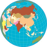 Asia Globe Separate and use any country as you wish. poster