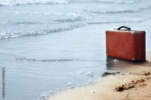 Leinwandbild Motiv Loneliness on the beach