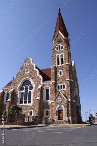 Historische Kirche in Windhoeck in Namibia