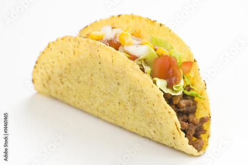 Fotobehang Restaurant delicious taco, mexican food