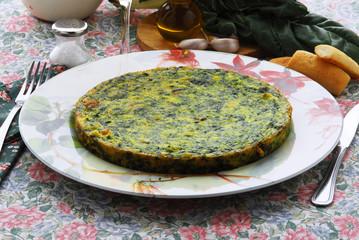 Frittata agli spinaci e bieta