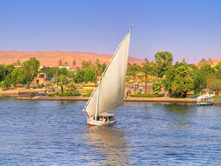 Images from Nile: Feluka sailing