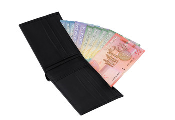 Wallet with Canadian dollars