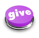Give - Charity Button poster