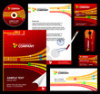 Editable corporate Identity template 4 - red