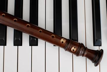 ピアノとリコーダー