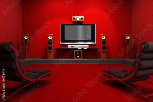 Contemporary Home Theater - 14478444