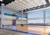 3d indoor gymnasium poster